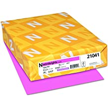 """Astrobrights Colored Cardstock, 8.5"""" x 11"""", 65 lb/176 gsm, Pulsar Pink, 250 Sheets (22821)"""