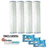 Pleatco Cartridge Filter PA126-PAK4 Hayward Super-Star-Clear C5000 SwimClear C5020 open w/molded gasket CX1260-RE w/ 3x Filter Washes