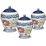 Certified International San Marino 3 Piece Canister Set, Multicolor