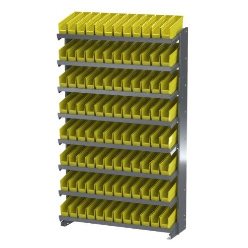 - Akro-Mils APRS110Y Single Sided Pick Rack with 96 30110 Yellow Shelf Bins