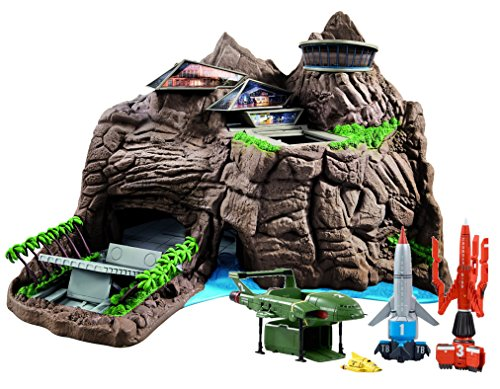 Official Thunderbirds Interactive Tracy Island Playset With Full Set Of 4 Vehicles Super Set by Thunderbirds