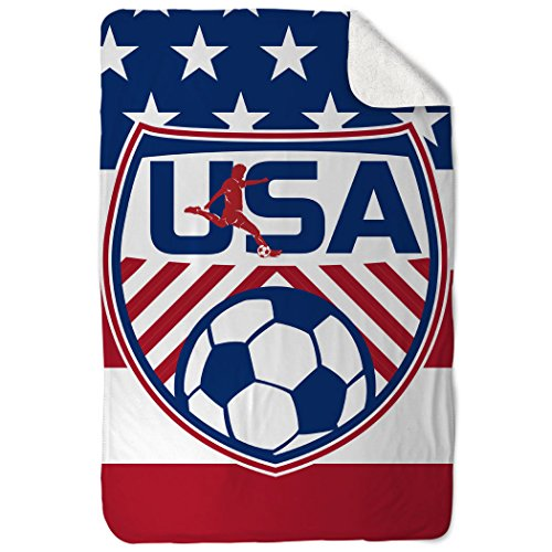 ChalkTalkSPORTS Soccer Sherpa Fleece Blanket | USA Soccer