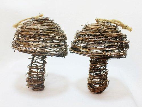 St. Nicholas Square Garden Retreat Mushroom Ornament-Set of 2