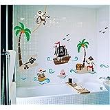 "Traumhaftes Wandtattoo ""Piraten"" DDS70 perfekt fürs Kinderzimmer"