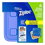 Ziploc Square Containers, Small, 4 Count