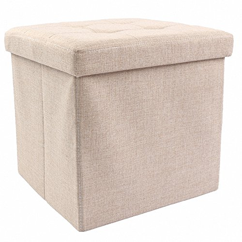 Low Cost Ottoman With Storage,Storage Ottoman Linen Foldable Stool,Storage  Cube Basket