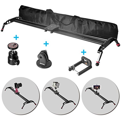 Fomito Upgraded Camera Video Slider Track Dolly Stabilization System (120cm / 47'') by Fomito