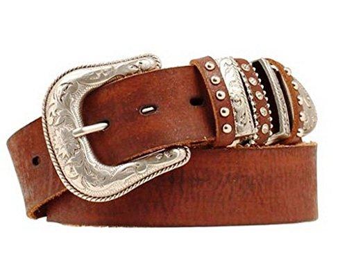 Nocona Belt Co. Women's Multi Keeper Buckle Set Belt, brown, Large