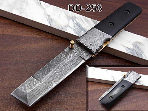 Damascus Steel Tanto Blade Folding Knife