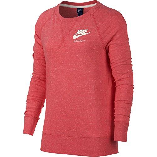 Nike Womens Gym Vintage Crew Sweatshirt Pink Nebula/Sail 883725-662 Size Small