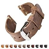 Archer Watch Straps | Handmade Horween Leather Quick Release Replacement Watch Bands for Men and Women, Watches and Smartwatches (Natural/Natural, 22mm)