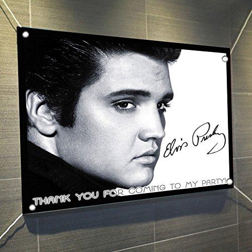 Elvis Presley Banner Large Vinyl Indoor or Outdoor Banner Sign Poster Backdrop, party favor decoration, 30