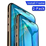 Screen Protector Compatible iPhone X/iPhone Xs,[2 Pack][Full Coverage][Installation Frame] Tempered Glass Screen Protector