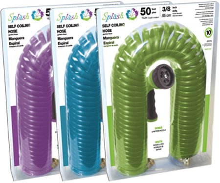 Blue Self Coiling Hose - Terra Verde Self Coiling Hose 50 feet
