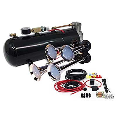 MPC B1 (0419) 4 Trumpet Train Air Horn Kit, Fits Almost Any Vehicle, Truck, Car, Jeep or SUV: Automotive