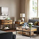 Madison Park Hudson End Table Natural/Graphite See Below Review