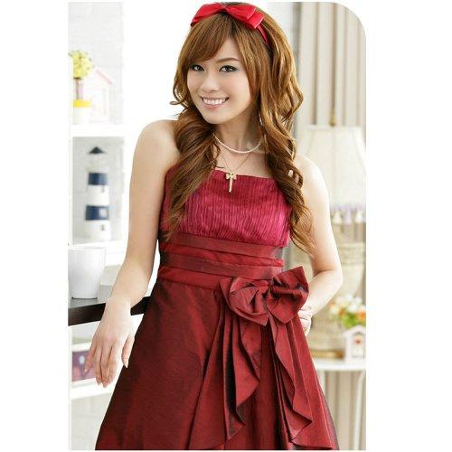 Dayiss® Grün Schwarz Rot Edles Damen Brautkleid Hochzeit Minikleid ...