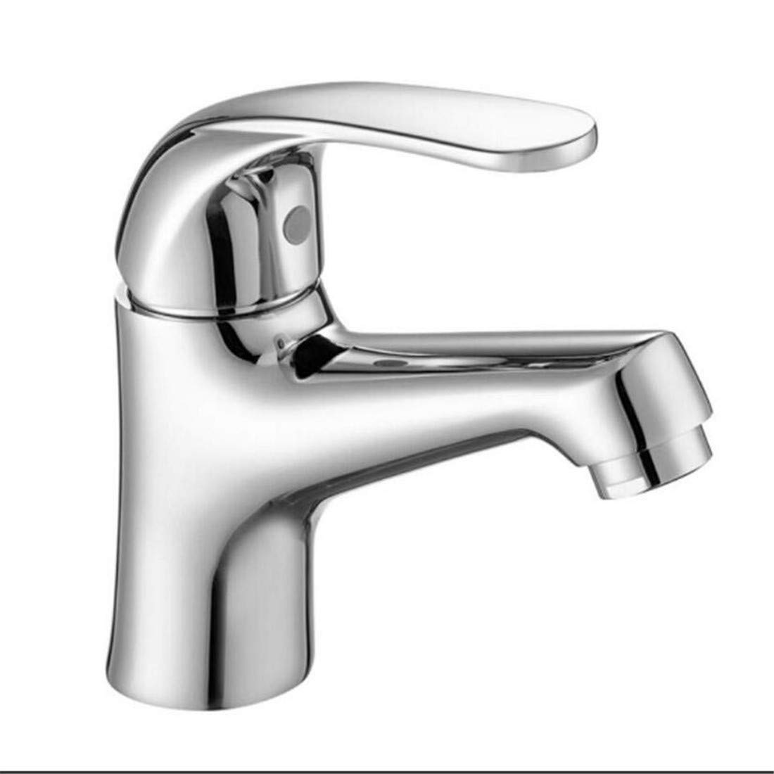 Vintage Chrom Messing Küche Badezimmer Wasserhähne Einloch-alle Kupfer kalt und heiß Becken Wasserhahn