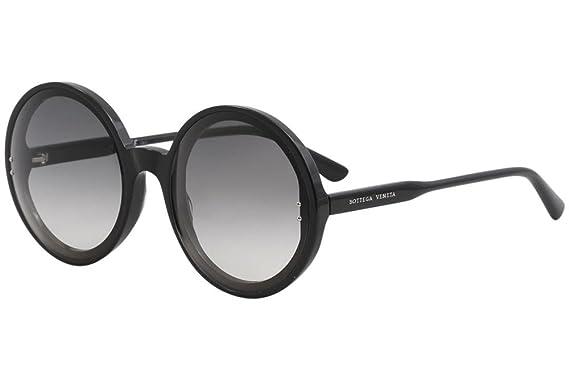 Amazon.com: Bottega Veneta bv0166s 001 redondo negro de ...