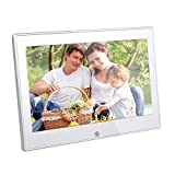Angelbubbles NEW Hi-Res Digital Photo Frame Aluminum Alloy Back Shell 7/8/9.7/10.1inch LCD Panel LED Backlight Widescreen 4:3/16:9 Video/Music Player SD/MMC/MS (LCD 7.0 INCH)