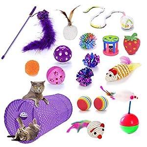 Legendog-Juguetes-para-Gatos-17Pcs-Juguetes-Gatos-Juguete-Interactivo-para-Gatos-con-Plumas-para-Kitty-17-Pcs