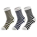 3 Pack Men's Cushion Micro Crew Hiking Socks, Moisture Wicking Multi Performance Outdoor Sports Trekking Casual Socks Review
