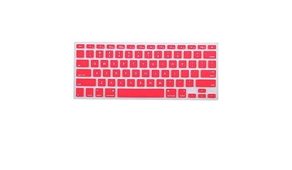 Amazon.com: eDealMax teclado de silicona Protector de la piel cubierta del ordenador portátil inalámbrica Bluethooth rosa Para el iMac: Electronics