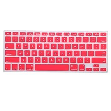 eDealMax teclado de silicona Protector de la piel cubierta del ordenador portátil inalámbrica Bluethooth rosa Para