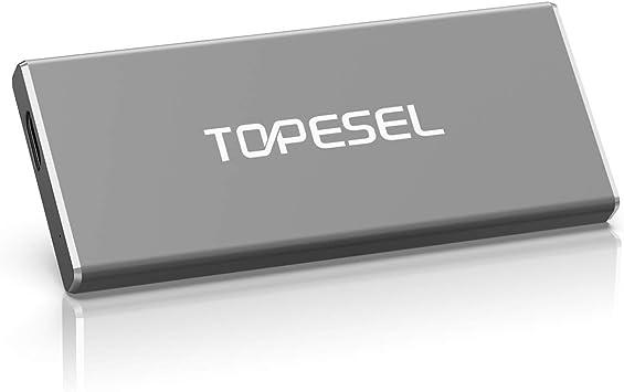 SSD 500GB Portátil, TOPESEL Disco Estado Sólido Externo Solid ...