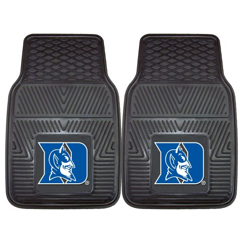 Fanmats 12097 Duke University Blue Devils Front Row Vinyl Heavy Duty Car Mat - 2 Piece University Front Car Mat