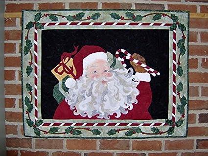 Amazon.com: seams like home jolly old santa applique wall hanging