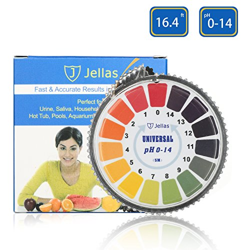 pH Test Strips, Jellas Universal pH Test Paper Strips Roll, pH Measure Range of 0-14 (Nitrazine Paper)
