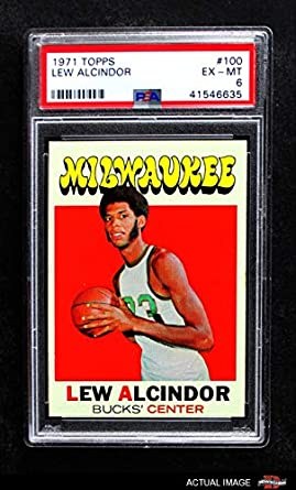 new arrivals 2226e 902a8 Amazon.com: 1971 Topps # 100 Lew Alcindor Milwaukee Bucks ...