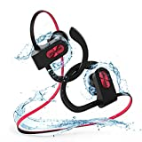 Mpow Flame Bluetooth Headphones Waterproof IPX7, Wireless Earbuds Sport, Richer Bass HiFi Stereo In-Ear Earphones w/ Mic, Case, 7-9 Hrs Playback Noise Cancelling Headsets (Comfy & Fast Pairing)
