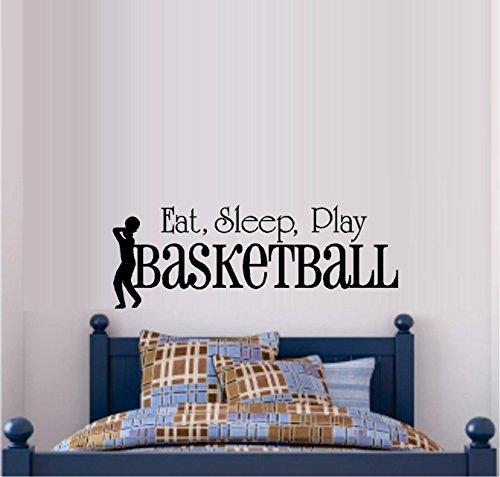 SLEEP PLAY BASKETBALL DECAL DECOR product image