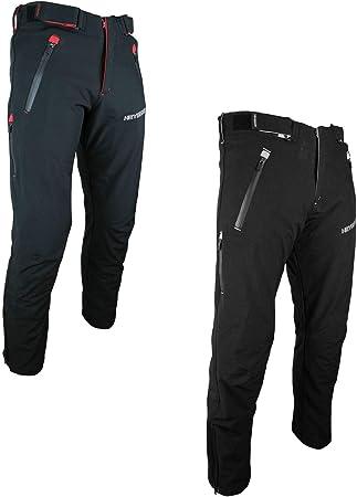 Heyberry Motorradhose Schwarz Neon Textil mit Oberschenkeltaschen Gr XL