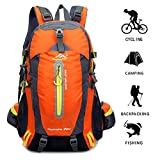 KALRI 40L Hiking Backpack Water Resistant Travel Backpack Lightweight Daypack for Outdoor Climbing Camping (orange)