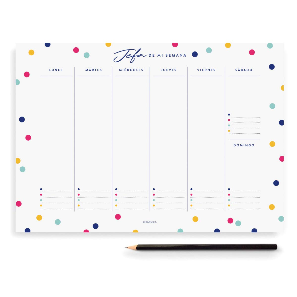 Amazon.com : Jefa Confetti Weekly Planner : Office Products