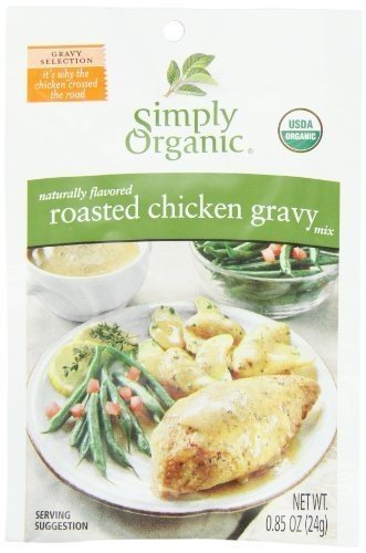 Simply Organic Roasted Chicken Gravy, Seasoning Mix, Certified Organic, 0.85-Ounce Packets (Pack of 12) ( Value Bulk Multi-pack)