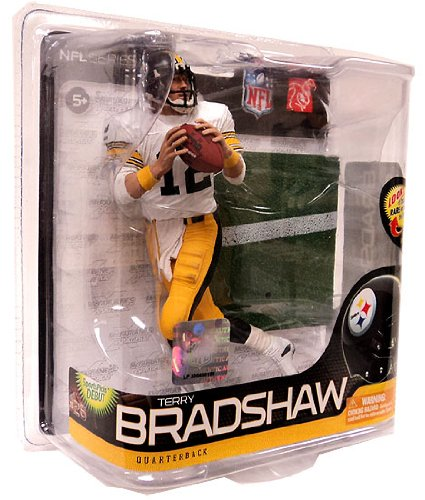 McFarlane Toys NFL Sports Picks Series 26 Action Figure Terry Bradshaw (Pittsburgh Steelers) White Jersey Bronze Collector Level Chase