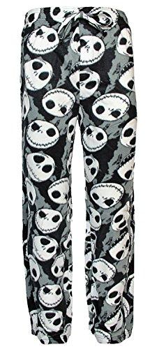 Disney Nightmare Before Christmas Jack Skellington Fleece Lounge Pajama Pants (X-Large) Jack Skeleton Nightmare Before Christmas