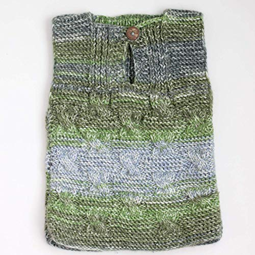 Knit Baby Vest Fall Winter, Hand Knitted Wool Baby Boy/Girl Unisex Clothing Cable Knit Grey Vest - New born gift - 1-3 -