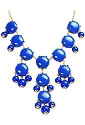 Bubble Necklace, Statement Necklace, Bubble Jewelry (Fn0508-Blue)