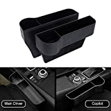 Moshbu 2 PCS Car Seat Pockets ABS Car Console Side Organizer Seat Gap Filler with Cup Holder for Cup, Cellphone, Wallet, Keys, Etc