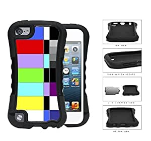 Retro TV Test Pattern Color Bars 2-Piece Dual Layer High Impact pc Silicone For SamSung Galaxy S6 Case Cover Generation