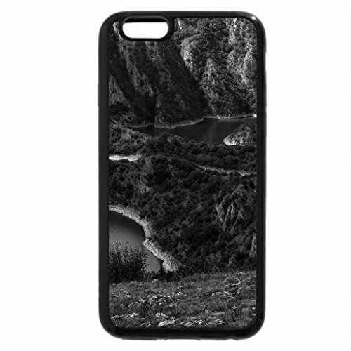 iPhone 6S Plus Case, iPhone 6 Plus Case (Black & White) - The River