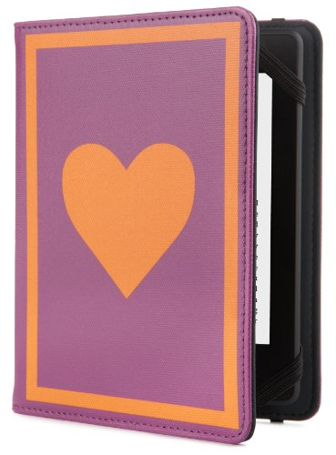 23 Purple Leaves - Jonathan Adler Peace/Love Cover - Purple/Orange (Fits Kindle Paperwhite, Kindle & Kindle Touch)