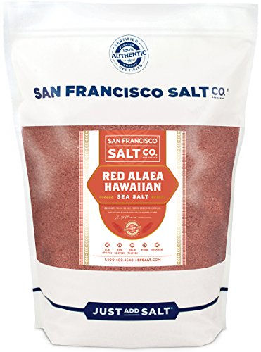 Red Alaea Hawaiian Sea Salt (5 lb. Bag - Fine Grain) by San Francisco Salt Company (Red Hawaiian Clay)
