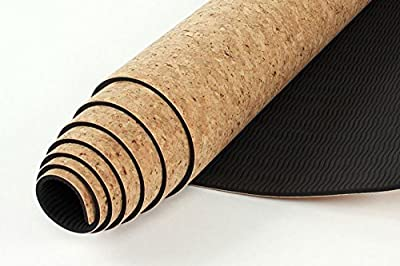Premium Cork Yoga Mat by Katherine Ryan | Professional Quality, Eco-friendly, All-natural | The