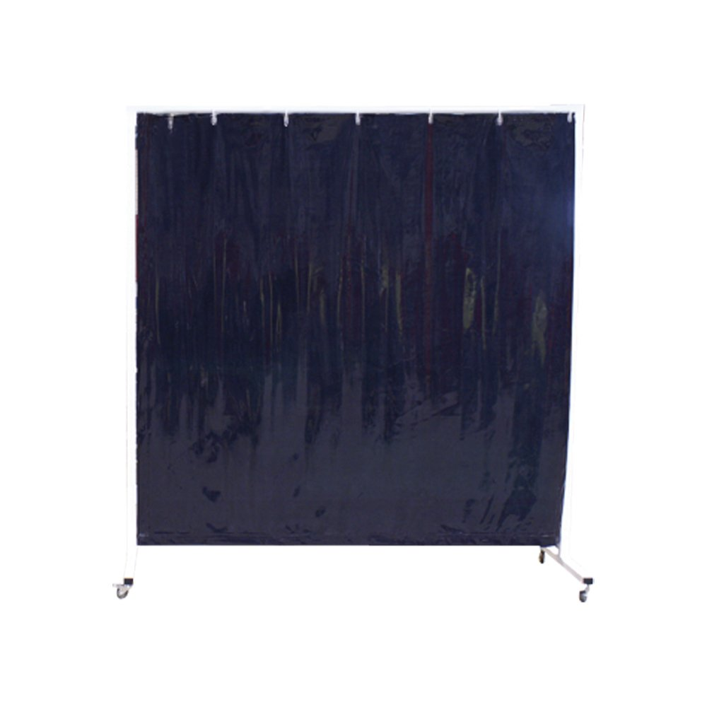 Sellstrom S97710-3 Cepro Vinyl Welding Curtain with Snap Fasteners, 6' Width x 6' Height x 14 mil Thick, Transparent Green ( Frame Not Included - Sold Seperately # S94250 ) by Sellstrom